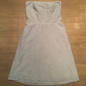 Gingham strapless dress
